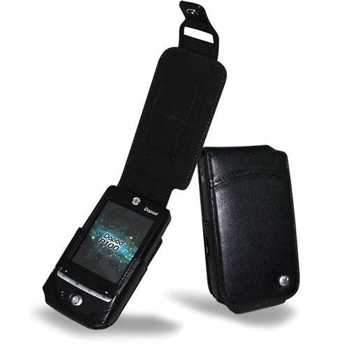 Etui cuir Qtek G100 - HTC Galaxy - Dopod P100  - Noir ( Nappa - Black )