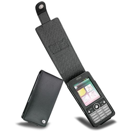 Sony Ericsson G700  leather case - Noir ( Nappa - Black )