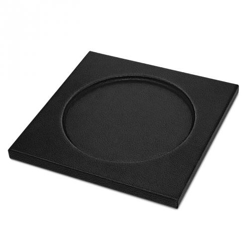 Square Coasters - x6 - Griffe 1 - Noir PU