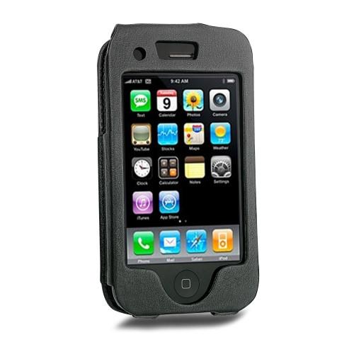 Apple iPhone 3G leather case - Noir ( Nappa - Black )