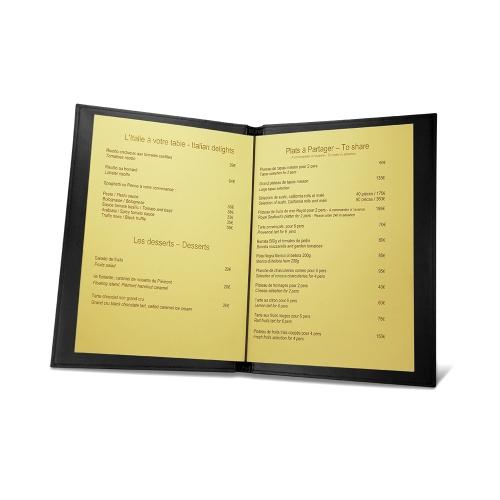 Porta-ementa de room service A5