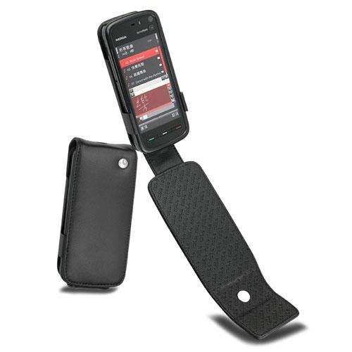 Nokia 5800 ExpressMusic  leather case - Noir ( Nappa - Black )