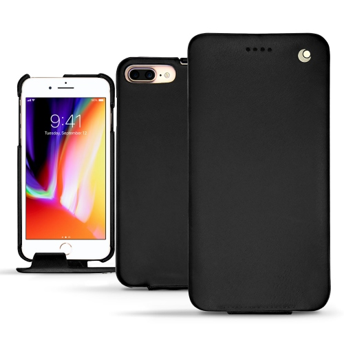 Apple iPhone 8 Plus leather case - Noir ( Nappa - Black )