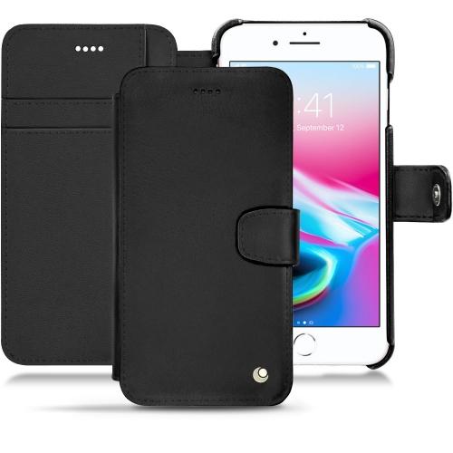 レザーケース Apple iPhone 8 Plus - Noir ( Nappa - Black )