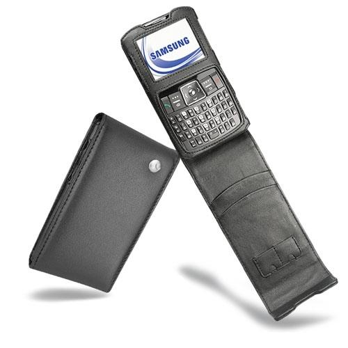 Samsung SGH-i320  leather case - Noir ( Nappa - Black )