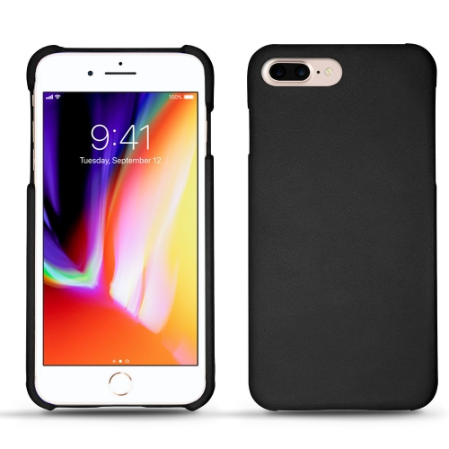 Apple iPhone 8 Plus leather cover - Noir ( Nappa - Black )