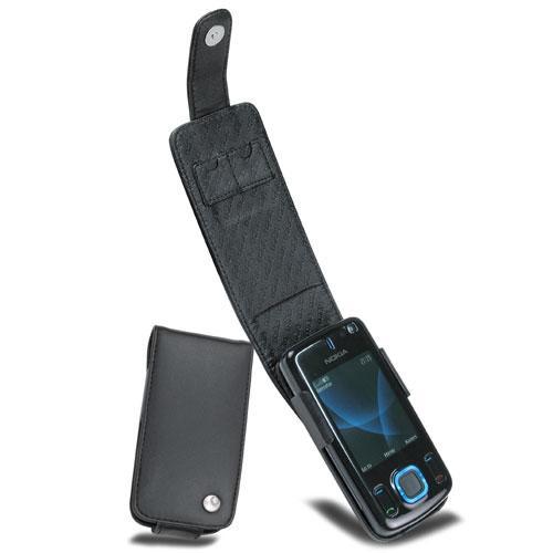 Nokia 6600 Slide  leather case - Noir ( Nappa - Black )