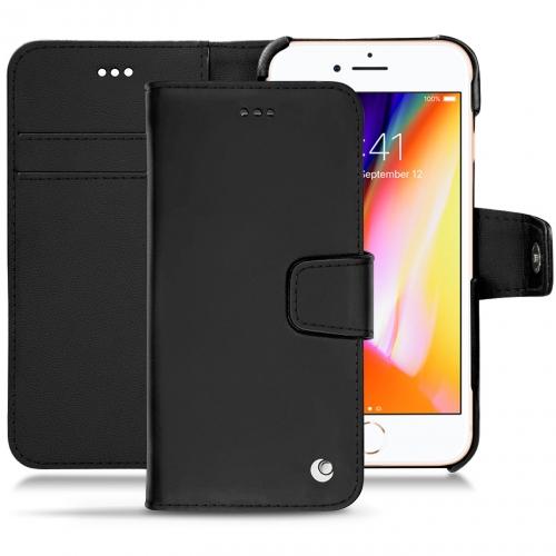 가죽 커버 Apple iPhone 8 - Noir ( Nappa - Black )