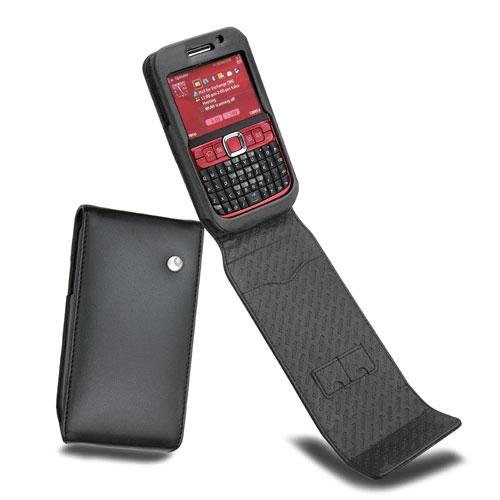 Housse cuir Nokia E63  - Noir ( Nappa - Black )