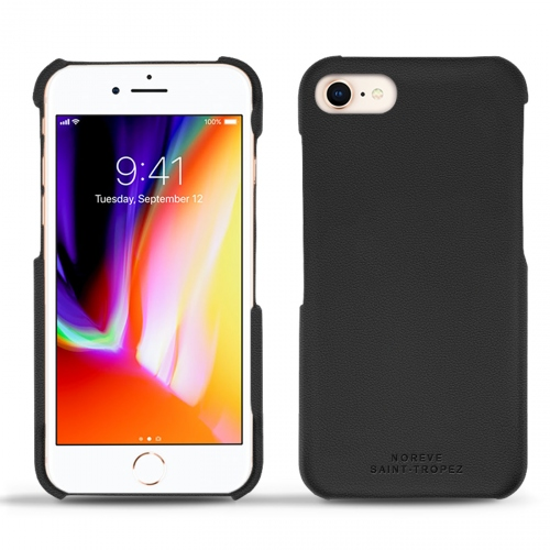 Coque cuir Apple iPhone 8 - Noir PU