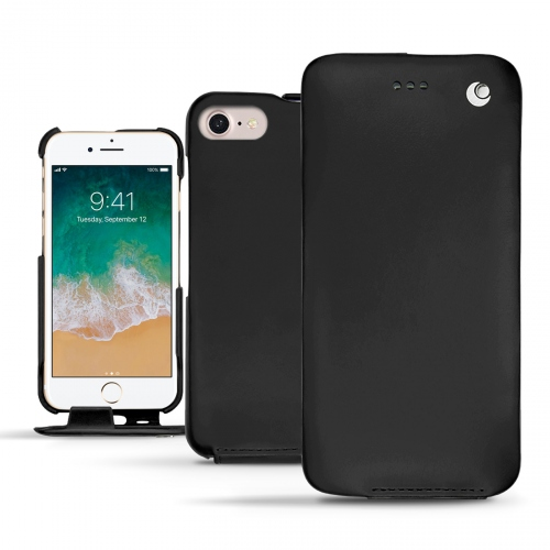 Apple iPhone 7 leather case - Noir ( Nappa - Black )