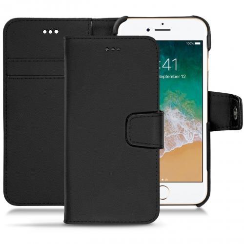 Apple iPhone 7 leather case - Noir PU
