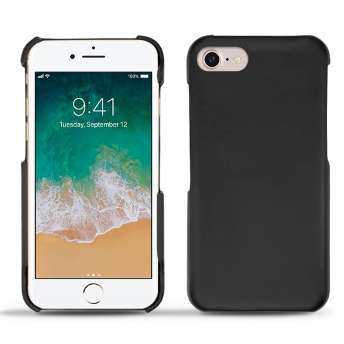 Coque cuir Apple iPhone 7 - Noir ( Nappa - Black )