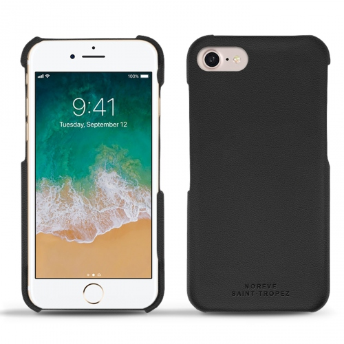 Apple iPhone 7 leather cover - Noir PU