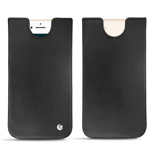 Apple iPhone 7 leather pouch - Noir ( Nappa - Black )