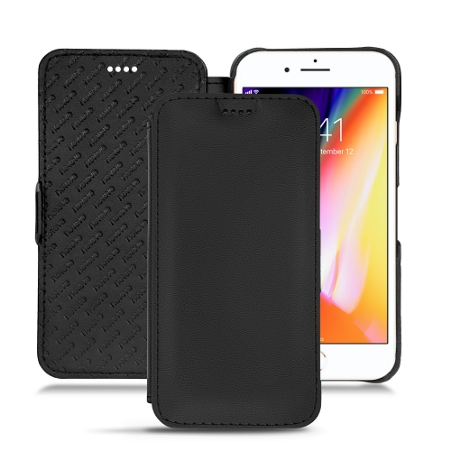 Housse cuir Apple iPhone 8 Plus - Noir PU