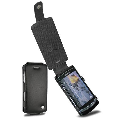 Samsung Acme i8910 - OmniaHD  leather case - Noir ( Nappa - Black )
