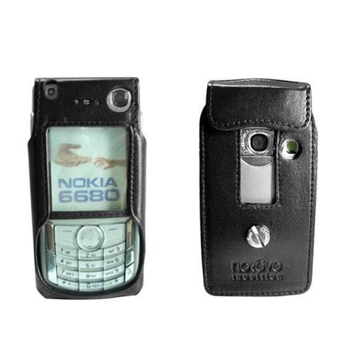 Leather case Nokia 6680  - Noir ( Nappa - Black )