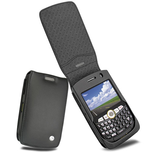 レザーケース BlackBerry Curve 8350i  - Noir ( Nappa - Black )