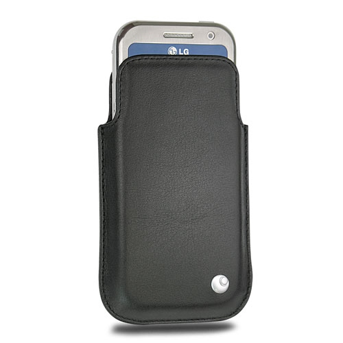 LG KM900 Arena leather case - Noir ( Nappa - Black )
