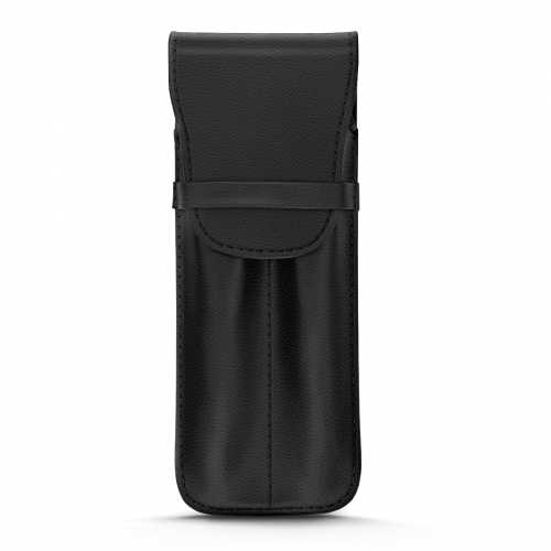 Leather case for 2 pens - Noir PU