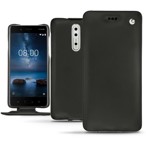 Nokia 8 leather case - Noir ( Nappa - Black )