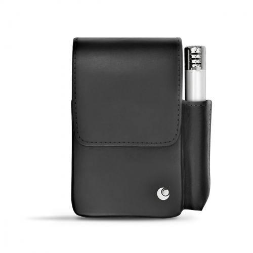 Leather cigarette case with lighter pocket