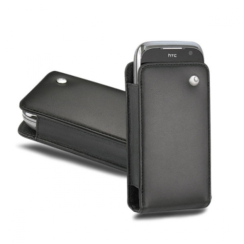 HTC Touch Pro2 leather case - Noir ( Nappa - Black )