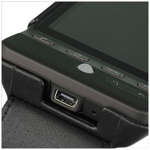 Housse cuir HTC Hero