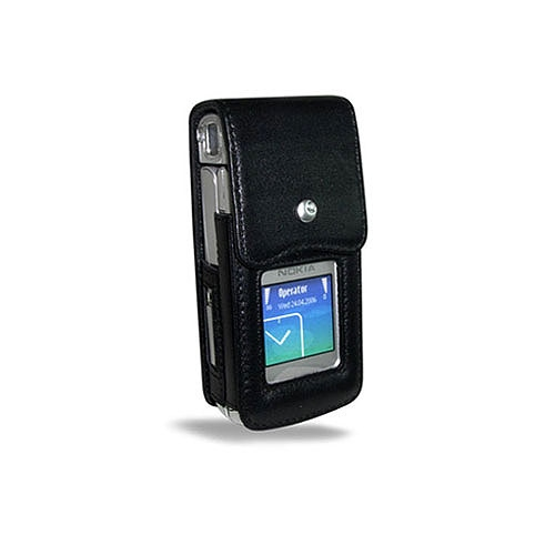Nokia N90  leather case - Noir ( Nappa - Black )