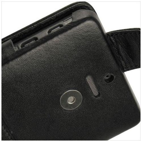 Housse cuir Motorola Droid X
