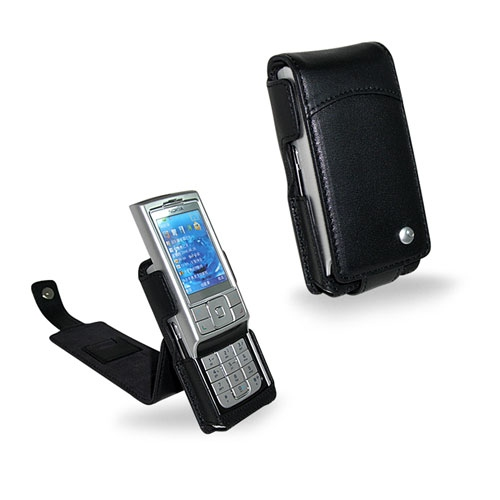 Nokia 6270  leather case - Noir ( Nappa - Black )