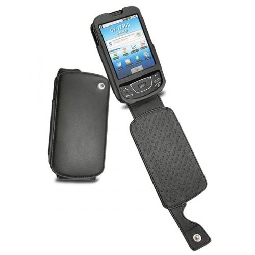 Samsung GT-i7500 Galaxy  leather case - Noir ( Nappa - Black )