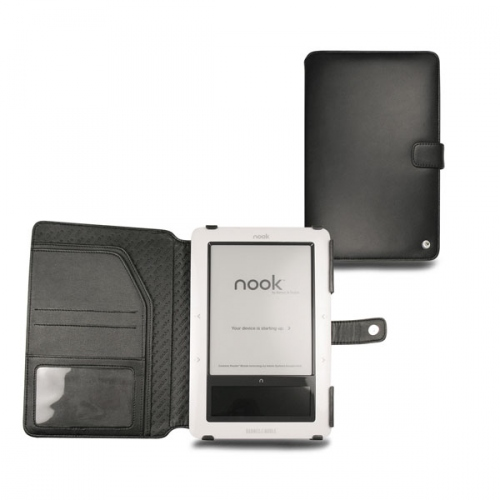 Barnes-Noble Nook  leather case - Noir ( Nappa - Black )
