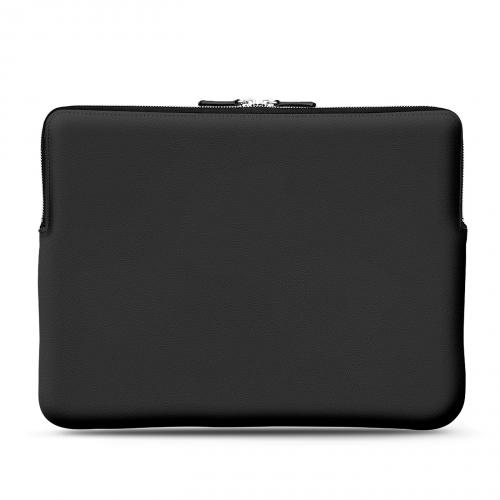 "Leather case for 15"" Macbook Pro - Griffe 3 - Noir PU"