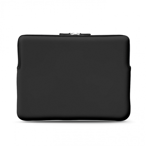 """Leather case for 12"""" Macbook - Griffe 3 - Noir PU"""