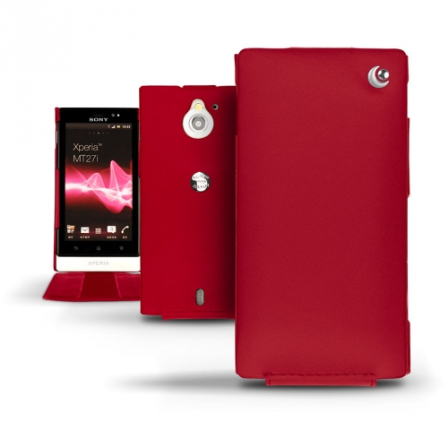 Housse cuir Sony Xperia Sola