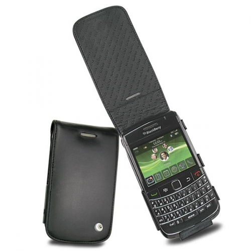 BlackBerry Bold 9700 - 9780  leather case - Noir ( Nappa - Black )