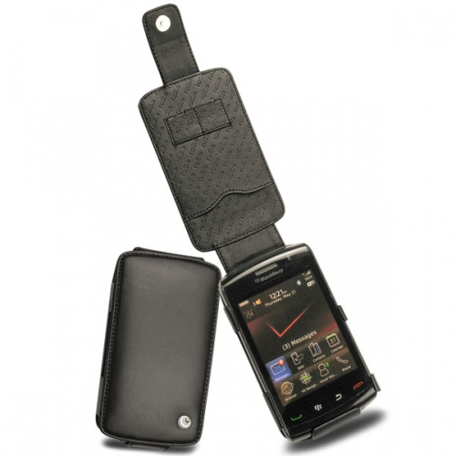 가죽 커버 BlackBerry Storm2 9550  - Noir ( Nappa - Black )
