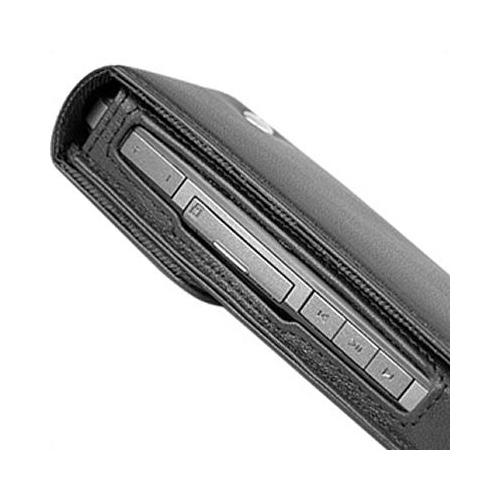 Housse cuir Motorola Rokr E6