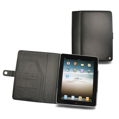 Apple iPad  leather case - Noir ( Nappa - Black )