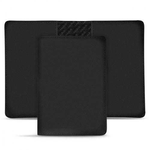 革製パスポートケース - Noir PU