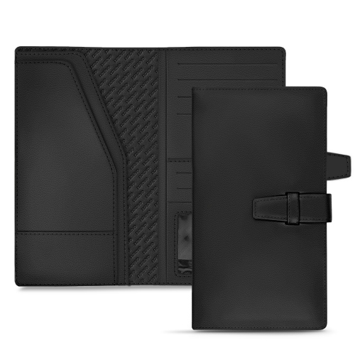 Porte-documents de voyage en cuir - Noir PU