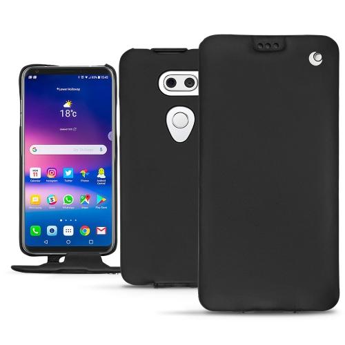 LG V30 leather case - Noir ( Nappa - Black )