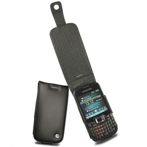 Samsung Omnia Pro B7330  leather case - Noir ( Nappa - Black )