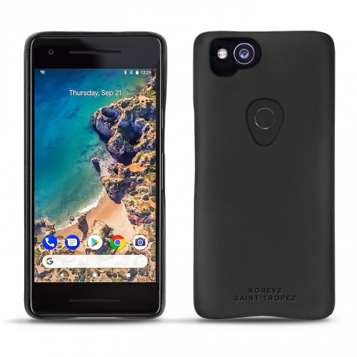 Google Pixel 2 leather cover - Noir ( Nappa - Black )