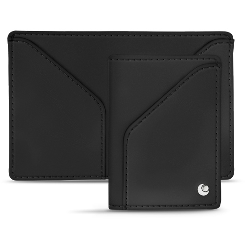 Leather case for 3 credit cards