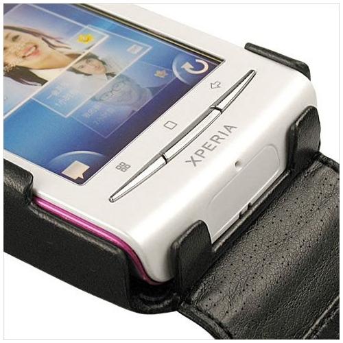 Housse cuir Sony Ericsson Xperia X8