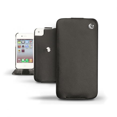 Apple iPhone 4  leather case - Noir ( Nappa - Black )