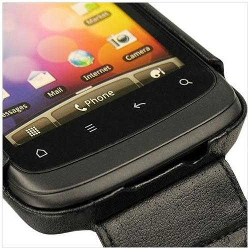 Housse cuir HTC Desire S